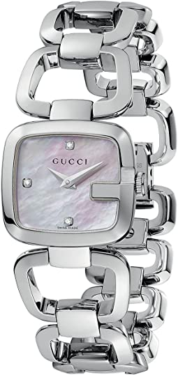 Gucci - G-Gucci 24mm Stainless Steel Bracelet with Diamonds Watch-YA125502