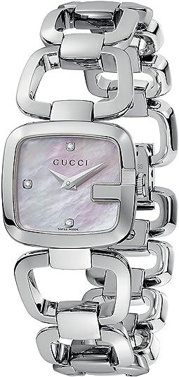 Gucci - G-Gucci 24mm Stainless Steel Bracelet with Diamonds Watch-YA125502