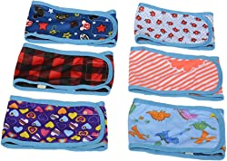 BWOGUE Dog Belly Band (Pack of 4) Boy Puppy Diapers with Velcro Washable Reusable for Small Male Pet Dog Diapers Pants