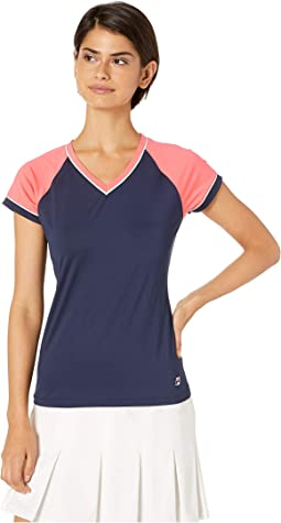 Heritage Tennis Cap Sleeve Top