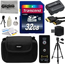 Must Have Accessories Bundle Kit for Sony Alpha A230, A290, A330, A380, A390 DSLR Digital Camera includes 32GB Class 10 SDHC Memory Card + Replacement (1500mAh) NP-FH50 Battery + Professional 60