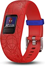 Garmin vivofit jr. 2, Kids Fitness/Activity Tracker, 1-Year Battery Life, Adjustable Band, Marvel Spider-Man, Red