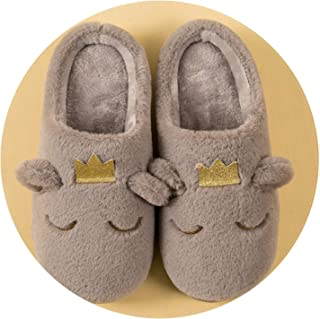 Cute Cartoon Animal Women Slippers Shoes Winter Warm Plush Home Slippers Cotton Slippers 5 Colors