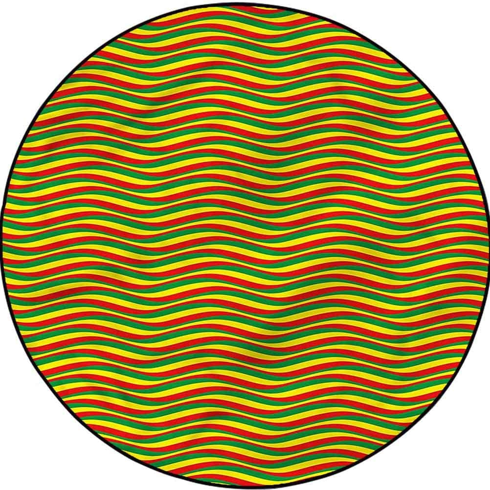 Rasta Colorful Round Rug for Under blast sales Kids SEAL limited product Bedroom Baby Ethiopian Rugs Wa