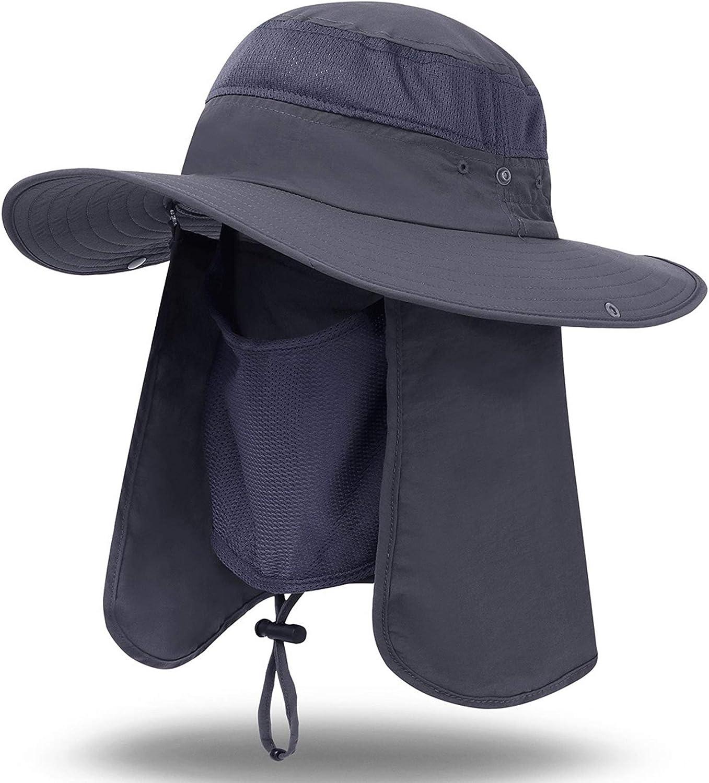icolor San Antonio Mall Sun Cap Max 60% OFF Fishing Hat Wide UV Safari Brim Protection Ca