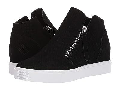 Steve Madden Caliber Wedge Sneaker (Black Suede) Women