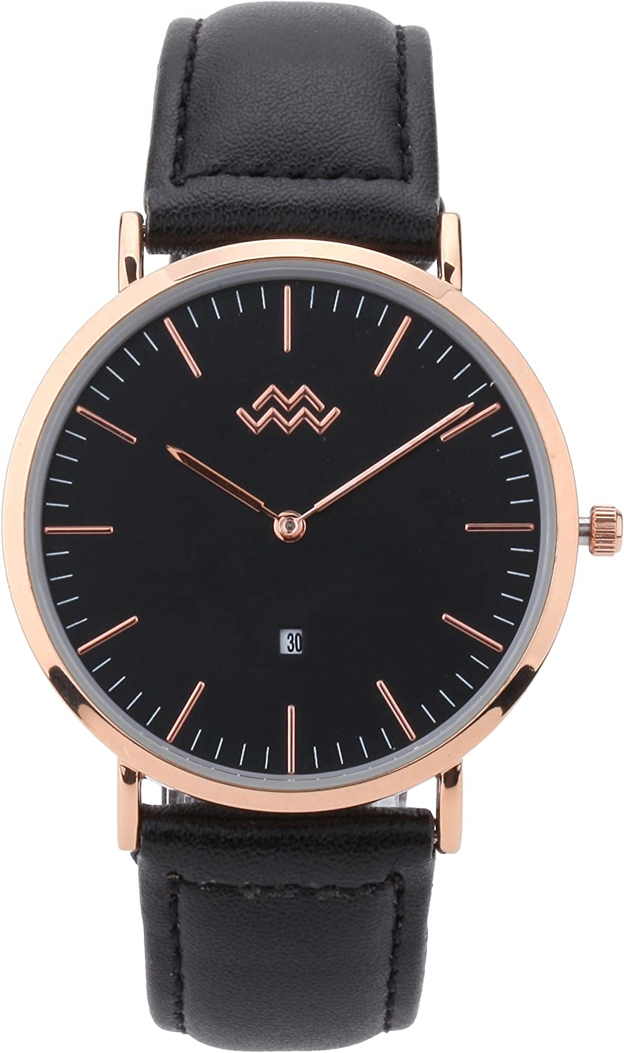 Mio Marino Mens Leather Watch - Men Wrist Watches for Fashion Daily bargain sale lowest price