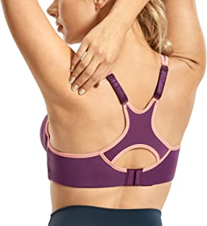 SYROKAN Women's Full Support High Impact Racerback Lightly Lined Underwire Sports Bra