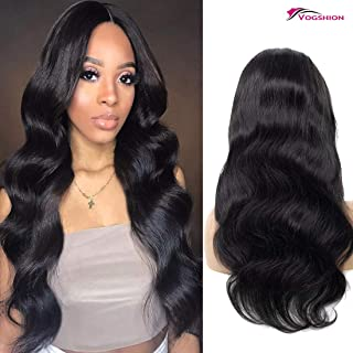 360 Lace Frontal Wig Peruvian Body Wave Human Hair Wigs Pre-Plucked Hairline 150% Density Natural Color 360 Lace Wig Human Hair with Baby Hair for Black Women(18 inch)