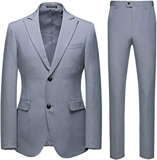 neveraway Men's 2 Button Classic Big Tall Formal Suit Casual/Formal/Wedding Tuxedo