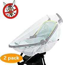2 Pack Mosquito Net, KOMIWOO Bug Insect Netting for Baby Strollers Bassinets Infant Carriers Car Seats Cover Cradles, White