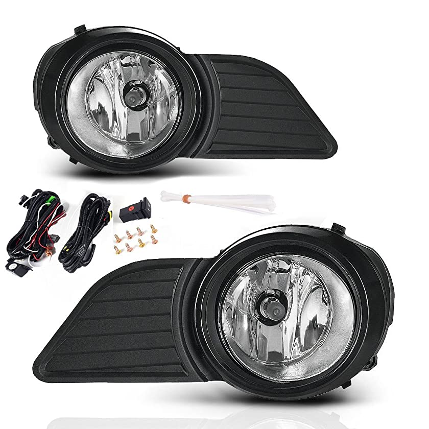 AUTOSAVER88 Fog Lights H11 12V 55W Halogen Lamp For Toyota Sienna 2011 2012 2013 2014 2015 2016 2017 with Bulbs & Wiring Harness Clear Real Glass Lens ATFL008T