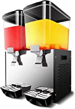 CLING Dryckesdispenser maskin dubbelcylinder kylning kommersiell kall dryck maskin varm och kall juicemaskin rostfritt stå...