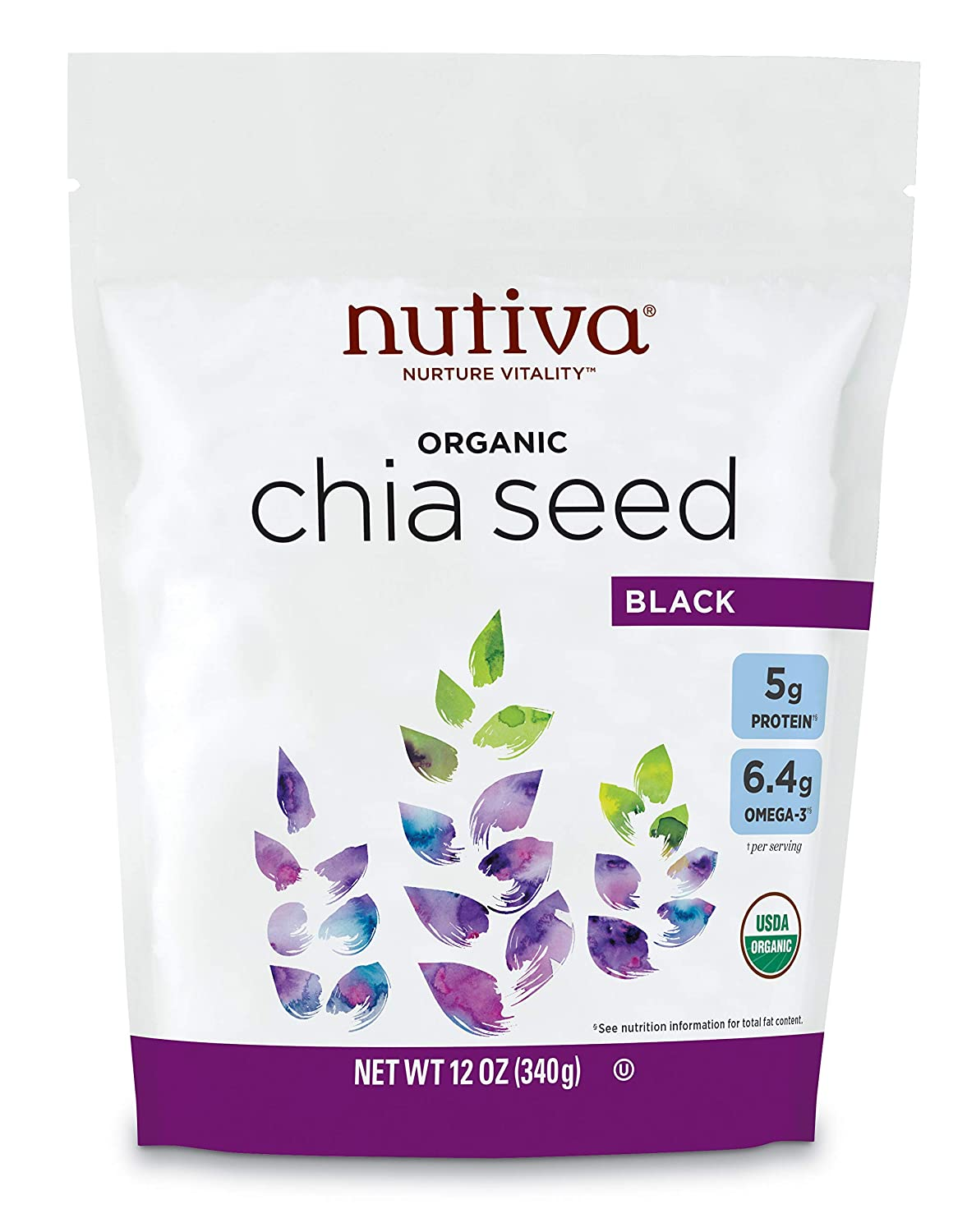 Factory outlet Nutiva Organic Chia Seed Black Pack 12 of 1 Ounce Sale Special Price