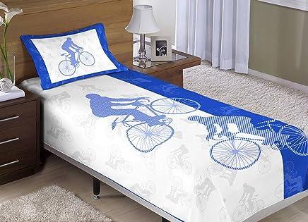 656af1346b Colcha Cobre-Leito Cama Solteiro Bicicleta Menino com 2 peças - Colcha +  Porta