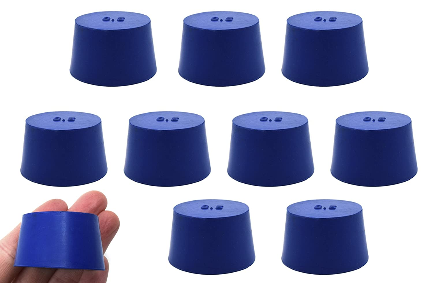 10PK Neoprene Oklahoma City Mall Stoppers Solid - ASTM Bottom #8.5-36mm Opening large release sale 4 Size: