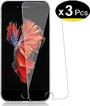 NEW'C Lot de 3, Verre Trempé pour iPhone 6, 6S, Film Protection écran - Anti Rayures - sans Bulles d'air -Ultra Résistant (0,33mm HD Ultra Transparent) Dureté 9H Glass