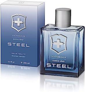 Swiss Army Steel by Victorinox Eau De Toilette Spray 3.4 oz / 100 ml (Men)