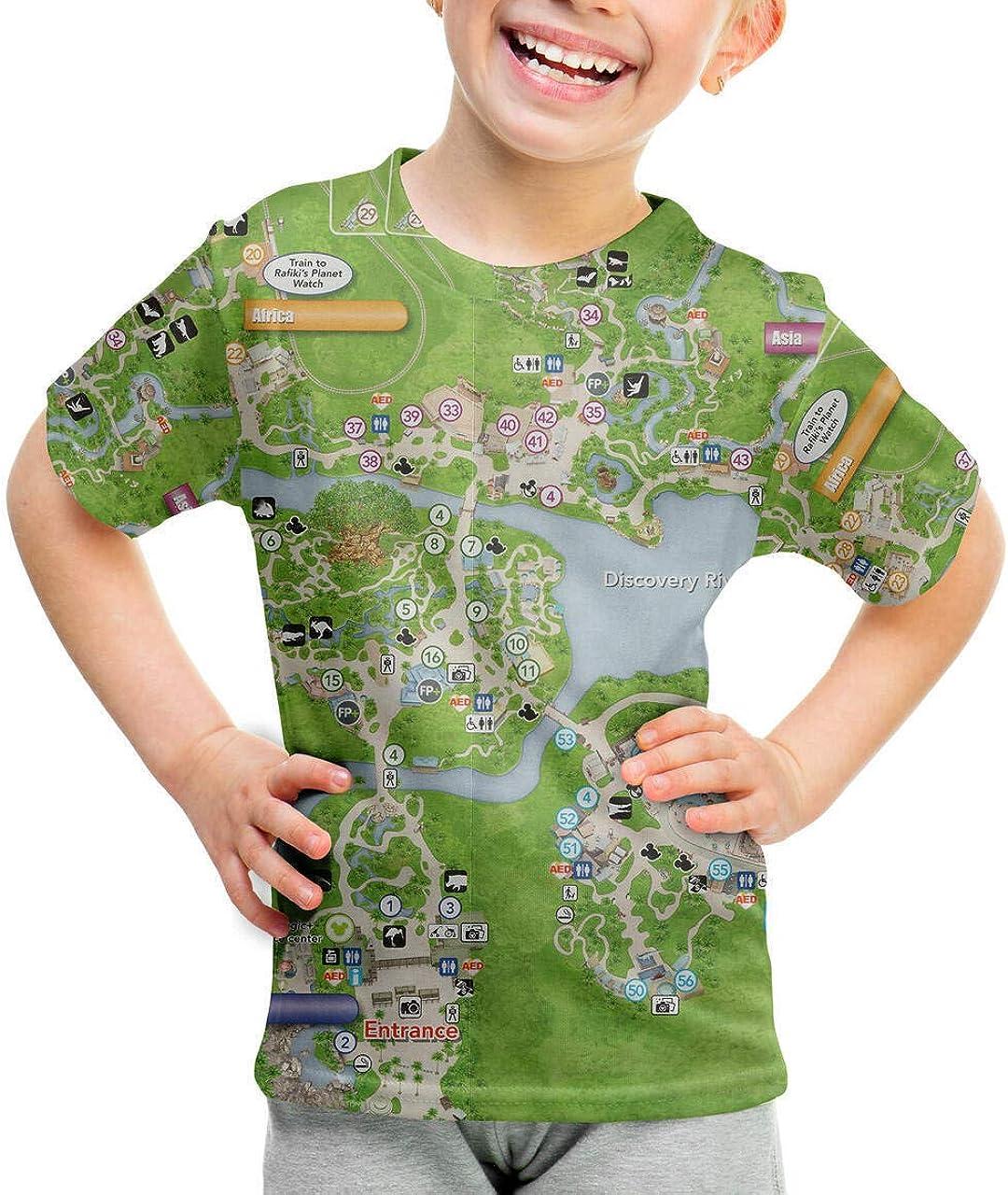 San Diego Mall Youth quality assurance Cotton Blend T-Shirt Kingdom - Map Animal