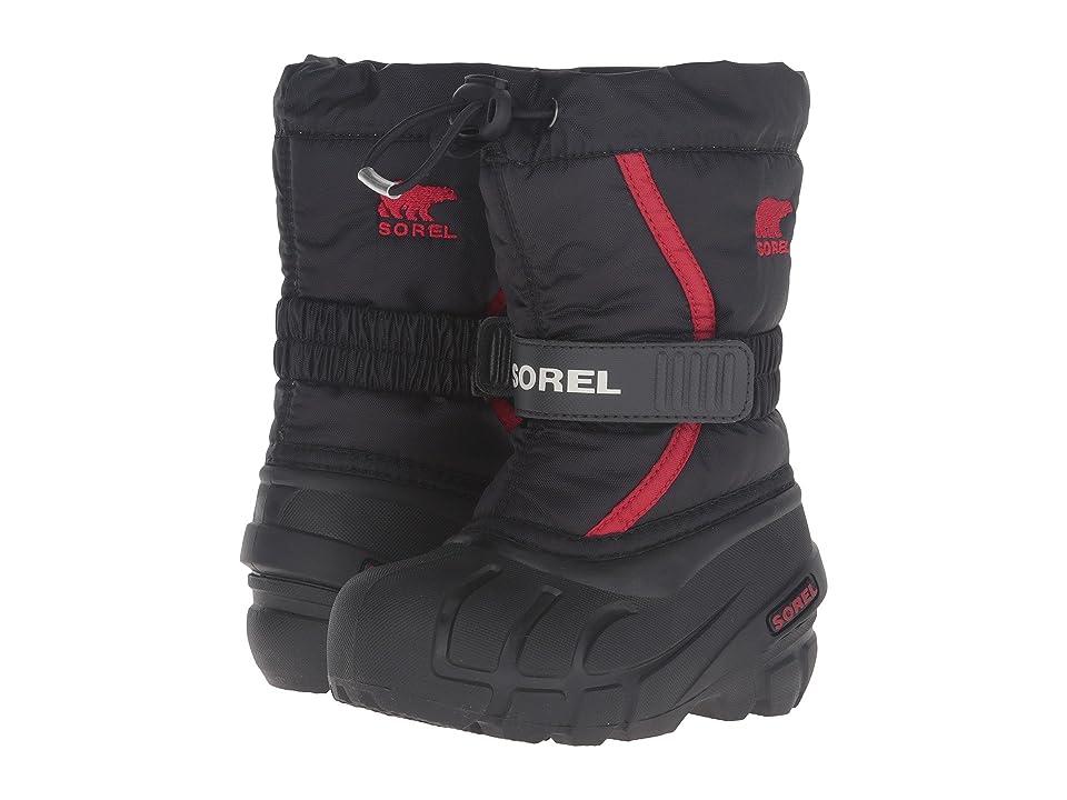 SOREL Kids Flurry (Toddler/Little Kid/Big Kid) (Black/Bright Red) Boys Shoes