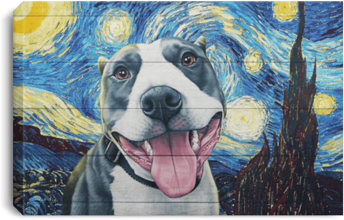 Excuse Me Pit Bull Funny Home Decor Canvas Art Dog Lover Animal Illustration Humorous Quote Saying Large Wall Art Personalized Custom Color
