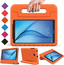 BMOUO Kids Case for Samsung Galaxy Tab E 8.0 inch - EVA ShockProof Case Light Weight Kids Case Super Protection Cover Handle Stand Case for Kids Children for Samsung Galaxy TabE 8-inch Tablet - Orange
