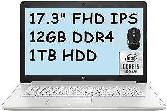 """2021 Flagship HP 17 Laptop Computer 17.3"""" FHD IPS 72% NTSC Display 10th Gen Intel Quad-Core i5-10210U (Beats i7-8550U) 12G..."""