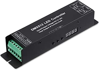 TORCHSTAR 4 Channel DMX Digital Tube DMX512 Decoder, Effective 4 Channel Output, 12-24V LED Light Converter, 4A Constant Current/Channel, RGBW/CCT