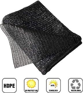 Garden EXPERT 10ft x 10ft 50% Black Sun Net Shade Mesh Sunblock Shade Cloth UV Resistant Net for Flower Plant in Greenhouse