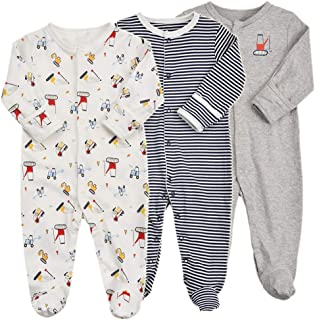 979c5a4e4 Amazon.com  9-12 mo. - Footies   Footies   Rompers  Clothing