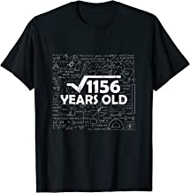 Square Root Of 1156 Tee 34th Birthday Gift 34 Years Old Math T-Shirt