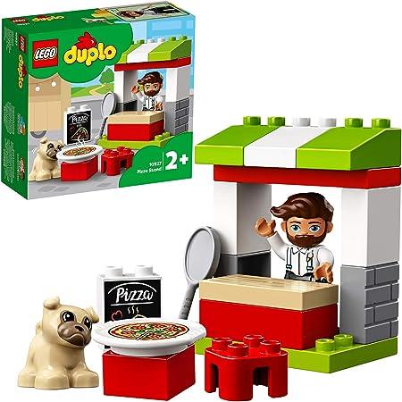 LEGO DuploTown ChioscodellaPizza, Playsetcon Pizzaiolo e Cane,Giochi con Grandi Mattoncini per Bimbi di 2 Anni, 10927