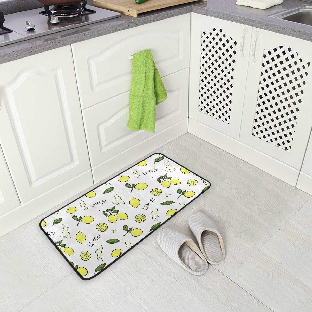Kitchen Rug Mat Translated Lemon Non Skid E Doormat Runner Sacramento Mall for Washable