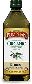 Pompeian USDA Organic Extra Virgin Olive Oil, First Cold Pressed, Full-Bodied Flavor, Perfect for Vinaigrettes & Marinade...