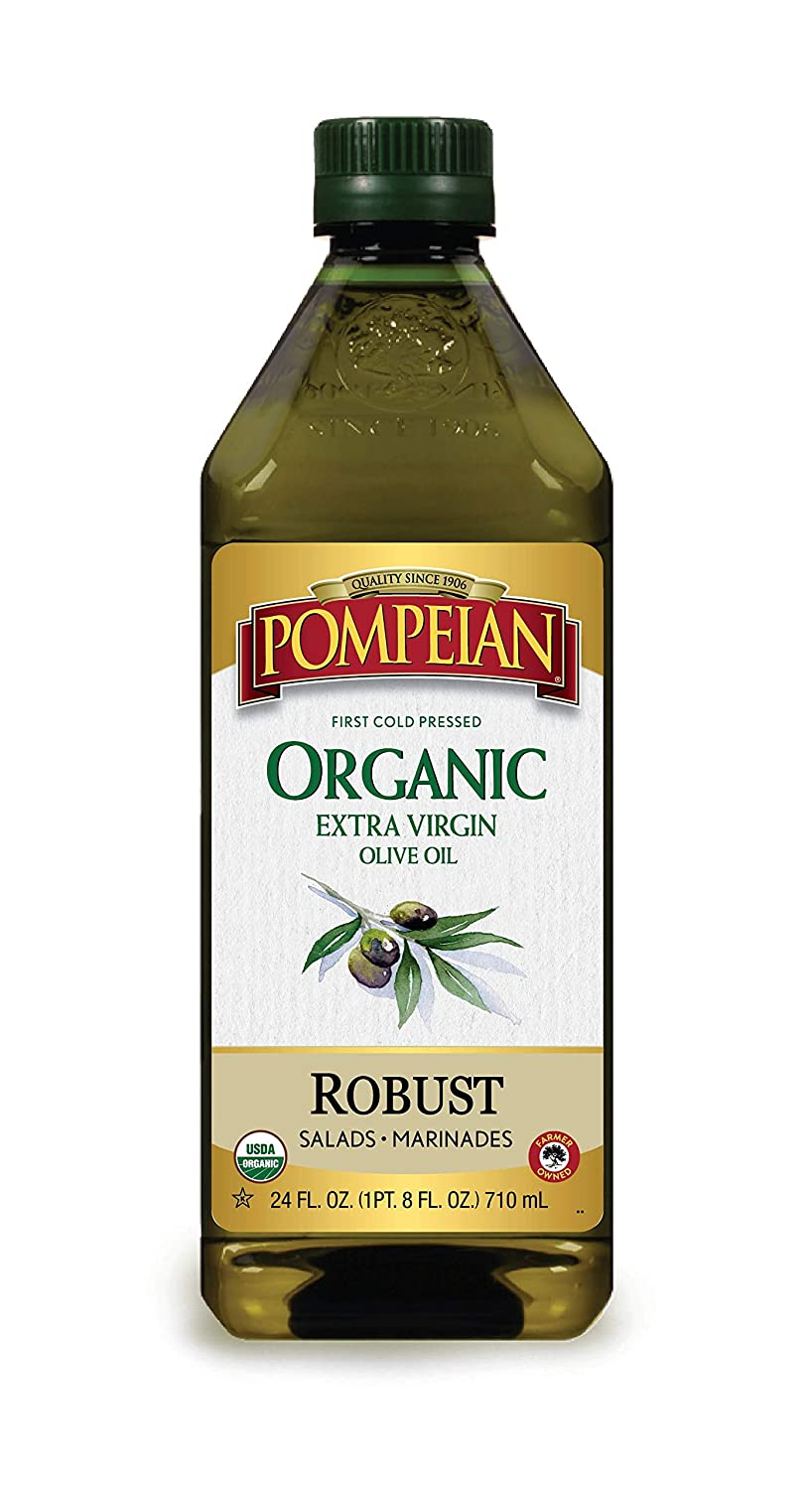 Amazon.com : Pompeian USDA Organic Extra Virgin Olive Oil, First Cold  Pressed, Full-Bodied Flavor, Perfect for Vinaigrettes & Marinades, 24 FL.  OZ. : Grocery & Gourmet Food