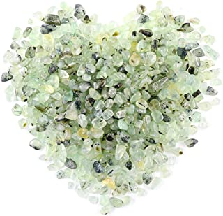 Swpeet 1 Pound Tumbled Chips Stone Crushed Pieces Irregular Shaped Stones 0.3-0.5 inch 1pound(About 460 Gram) (Green Avetu...
