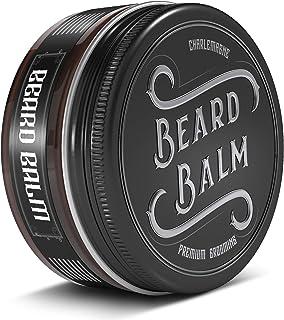Charlemagne Beard Balm - 100% natürliches Bartbalsam Männer - Bartcreme Bart Balsam für die tägliche Bartpflege und Bart Styling - Bartpomade Bartwichse Bart Pomade Bartwachs Bart Wax