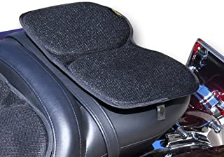 Skwoosh Motorcycle Passenger Gel Seat Pad for Sport Touring with Breathable Cooling Mesh Fabric | Made in USA