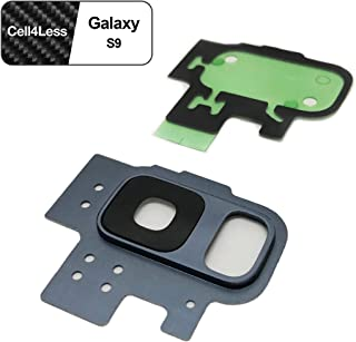 Cell4less Rear Camera Lens and Frame Replacement Kit for The Galaxy S9 (Blue)