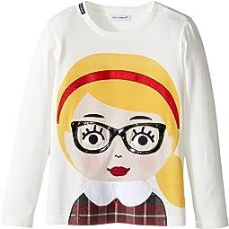 Back to School Bimba Bionda Long Sleeve T-Shirt (Toddler/Little Kids)