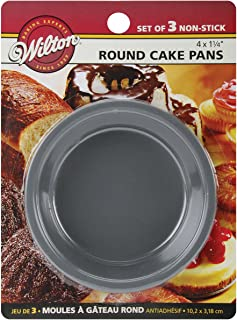 Wilton 2105-1829 Mini Round Pans, 4 by 1.25-Inch, Set of 3