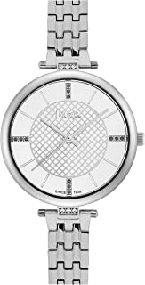 Lee Cooper Women's Analog Silver Case Silver Super Metal Strap Silver Dial -LC06464.330