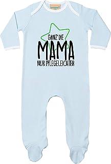 Kleckerliese Baby Kinder Schlafanzug Strampler Langarm Einteiler Motiv Ganz die Mama nur Pflegeleichter