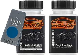 TRISTARcolor Autolack Lackstift Set für VW/Volkswagen LA5C Surfblau/Surf Blue Basislack Klarlack je 50ml