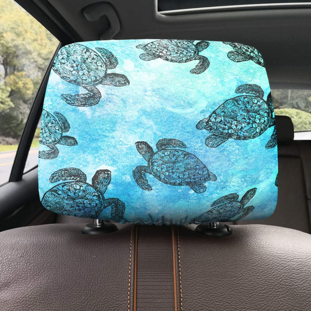 WIRESTER Car Seat Head Rest Cover Protective Fabric Design Cover Decoration for All Cars