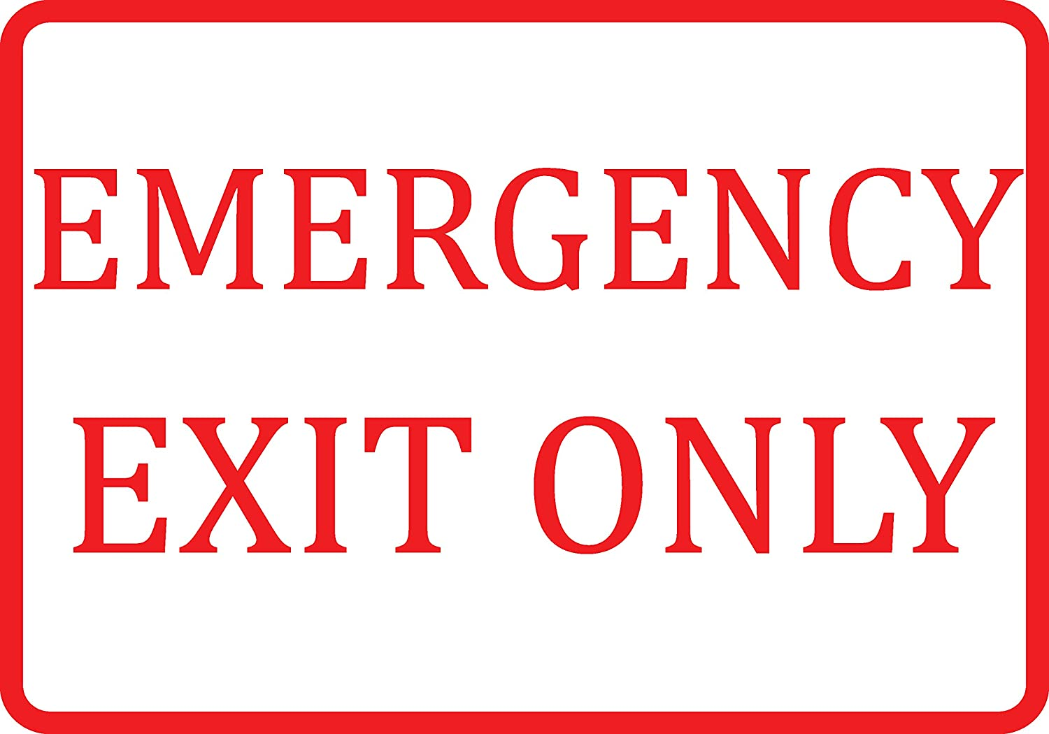 2 Pack Aluminum Metal White Emergency Exit Only Sign