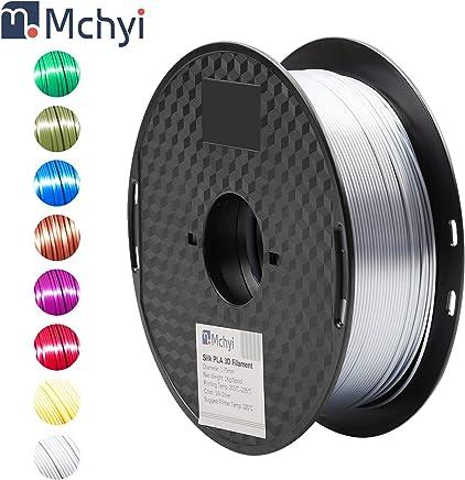 MCHYI Silk Shiny 3D Printer Filament 1kg 1 Spool Silk Silver PLA Filament 1.75mm
