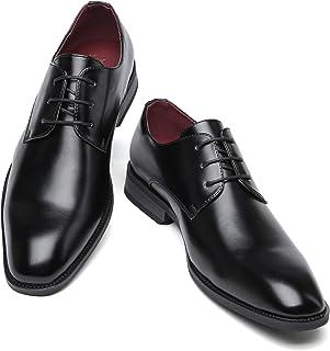 [Adolph] ビジネスシューズ メンズ 革靴 ストレートチップ ZY-1007 (ブラック) 24.5cm-27.5cm