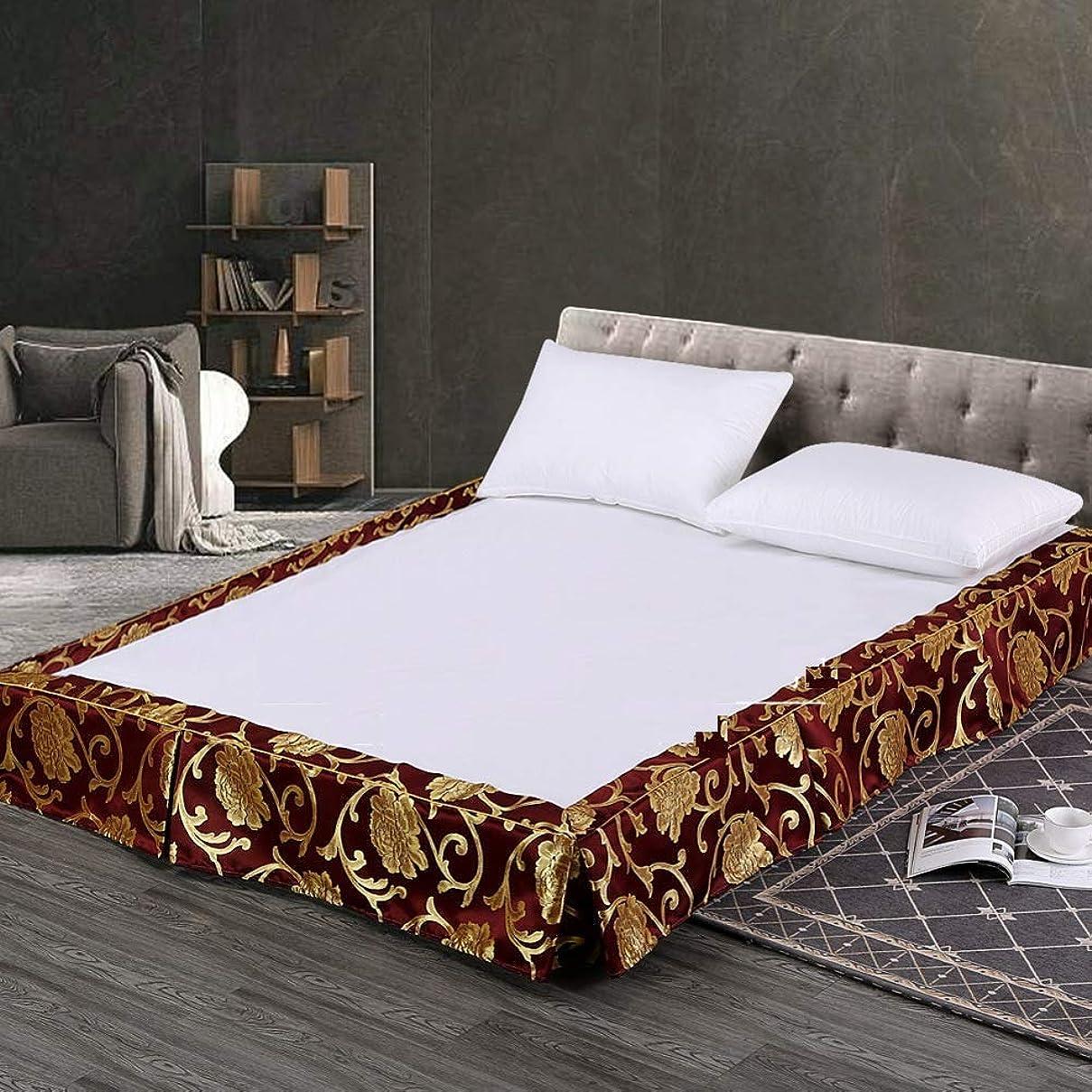 肌散文機密ホテル ベッド カバー ポリエステル ベッドスカート,ダブル プリーツベース ほこり バランス シート 簡単フィット ベッド カバー バランス シート-b