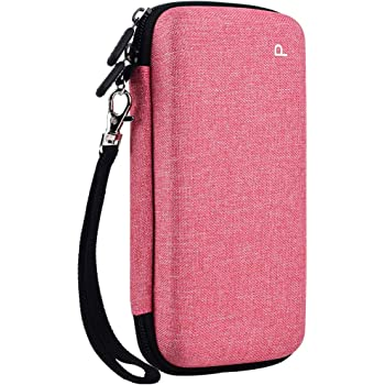 PAIYULE Travel Case for Texas Instruments Ti-84 plus/TI-83 Plus/HP Prime Graphing Calculator, Large Capacity for Pens,Cables and Other Accessories - Pink